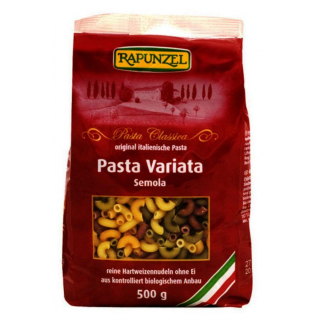 BIO Pasta Variata, 500 gr Packung 4-farbige Hörnchen