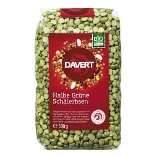 Grüne Erbsen halbe, 500 gr Packung