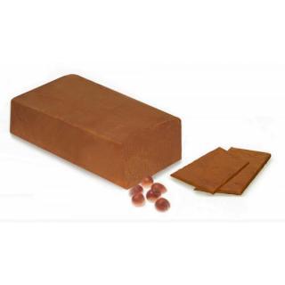 Nussnougat, dunkel am Block, 2,5 kg Stück