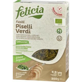 Grüne Erbsen Pasta Fusilli