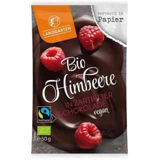 BIO Himbeere in Zartbitter Schokolade