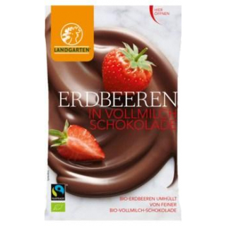 BIO Erdbeer in Vollmilchschokolade